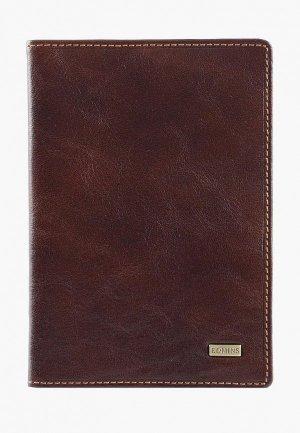Обложка для паспорта Edmins. Цвет: коричневый