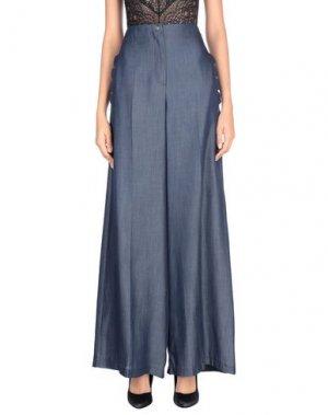 Джинсовые брюки BABYLON. Цвет: синий