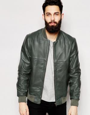 Кожаная куртка-пилот ASOS