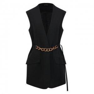 Шерстяной жилет Givenchy. Цвет: чёрный