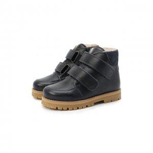 Кожаные ботинки Petit Nord. Цвет: синий