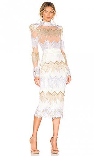 Платье миди chrysler Zhivago. Цвет: белый