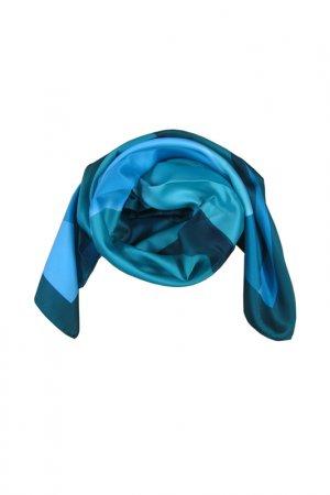 Платок F.FRANTELLI. Цвет: зеленый, голубой
