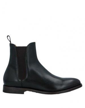 Полусапоги и высокие ботинки ALBERTO FASCIANI. Цвет: темно-зеленый