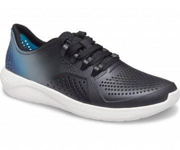 Кроссовки женские CROCS Womens LiteRide™ Color Dip Pacer Black/Light Grey/Vivid Blue арт. 206583. Цвет: black/light grey/vivid blue