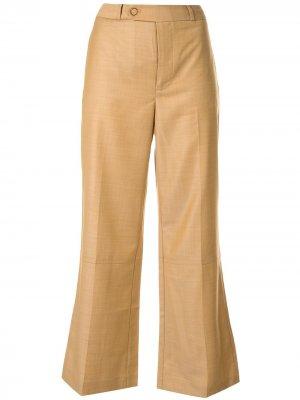 Укороченные брюки Zimmermann. Цвет: коричневый