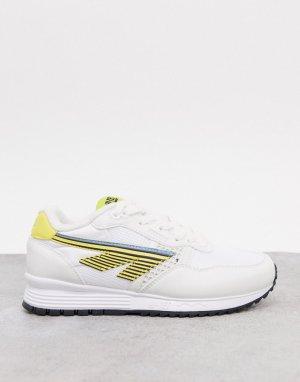Кроссовки для бега белого/желтого цвета BW 146-Мульти Hi-Tec