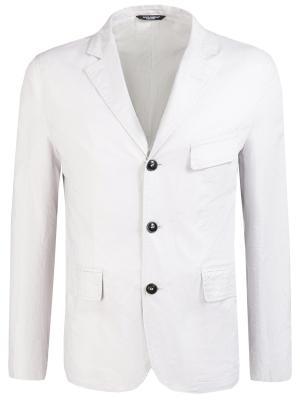 Хлопковый пиджак DOLCE & GABBANA. Цвет: белый