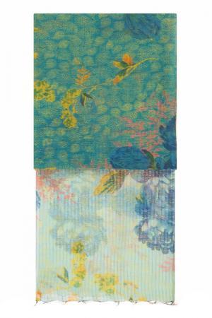 Палантин Michel Katana. Цвет: лазурный, голубой, персиковый