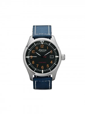 Наручные часы Startimer Pilot Quartz 42 мм Alpina. Цвет: blue