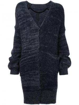 Пальто-кардиган с присборенными рукавами Ilaria Nistri. Цвет: серый