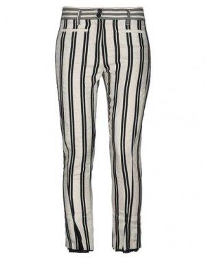 Повседневные брюки ANN DEMEULEMEESTER. Цвет: бежевый