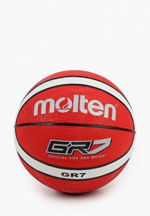 Мяч баскетбольный Molten. Цвет: красный