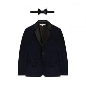 Комплект из пиджака и галстука-бабочки MARC JACOBS (THE). Цвет: синий