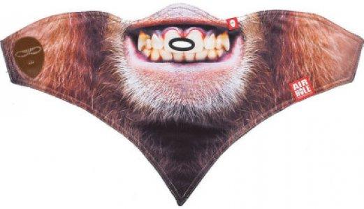 Маска детская Ape Airhole. Цвет: коричневый