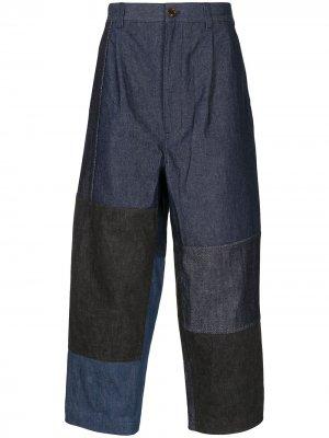 Широкие джинсы в технике пэчворк Comme Des Garçons Homme. Цвет: синий