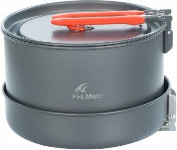 Набор посуды: 2 котелка, сковорода, чайник FEAST 4 Fire-Maple. Цвет: серый
