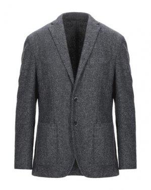 Пиджак LUIGI BIANCHI ROUGH. Цвет: серый