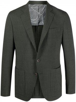 Однобортный пиджак Canali. Цвет: зеленый
