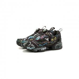 Текстильные кроссовки Vetements x Reebok Instapump. Цвет: чёрный