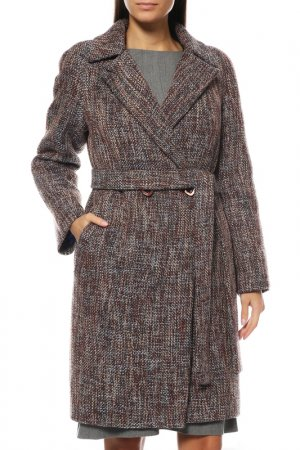 Пальто Анора. Цвет: коричневый