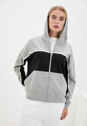 Толстовка Nike W NSW FZ FT ARCHIVE RMX. Цвет: серый