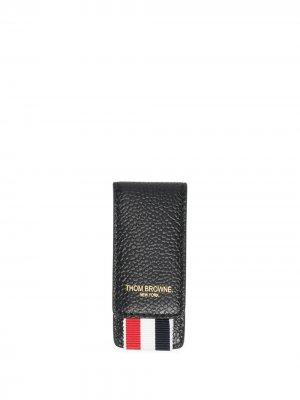 Картхолдер с тисненым логотипом Thom Browne. Цвет: черный