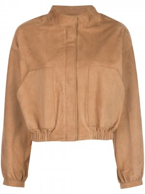 Куртка-бомбер Sam Lth Jkt. Цвет: коричневый