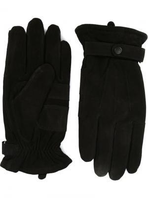 Перчатки с ремешком Barbour. Цвет: чёрный