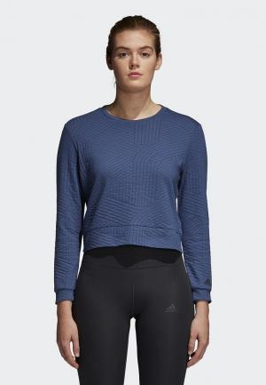 Свитшот adidas Perf Sweatshirt. Цвет: синий