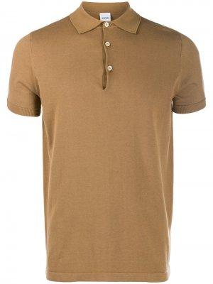 Классическая рубашка-поло Aspesi. Цвет: коричневый