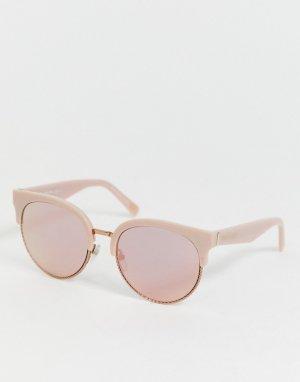 Круглые солнцезащитные очки в металлической оправе -Розовый Marc Jacobs