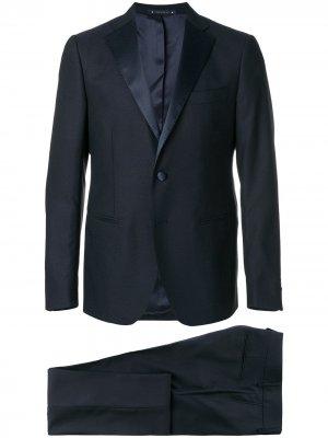 Классический костюм-двойка Bagnoli Sartoria Napoli. Цвет: синий