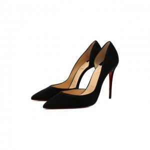 Замшевые туфли Iriza 100 Christian Louboutin. Цвет: чёрный
