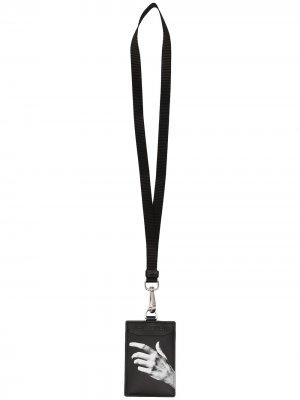 Картхолдер с ланъярдом и логотипом Neil Barrett. Цвет: черный