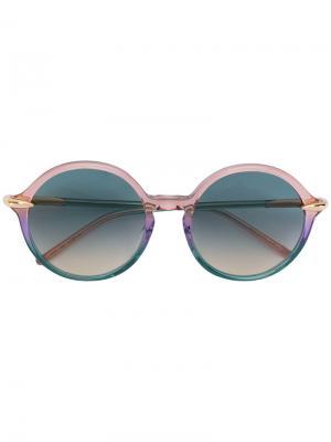 Солнцезащитные очки в круглой оправе Pomellato. Цвет: многоцветный