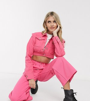Короткая розовая джинсовая куртка -Розовый Reclaimed Vintage