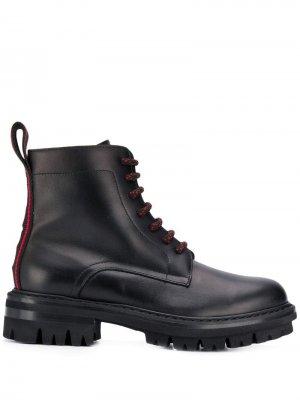 Ботинки в стиле милитари Dsquared2. Цвет: черный