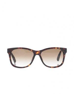 Солнечные очки TOMMY HILFIGER. Цвет: темно-коричневый