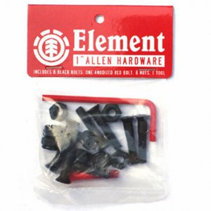 Винты для скейтборда Element Allen HDWR 1 INCH Element&CO. Цвет: черный