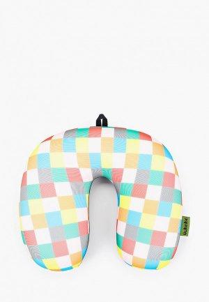 Подушка Gekoko для самолета. Цвет: разноцветный