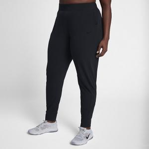 Женские брюки со средней посадкой для тренинга Flex Bliss (большие размеры) Nike. Цвет: черный