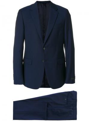 Деловой костюм кроя слим Prada. Цвет: синий
