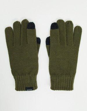 Перчатки цвета хаки для сенсорных экранов -Зеленый French Connection