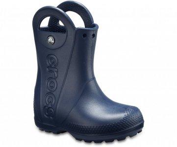 Резиновые сапоги детские CROCS Kids' Handle It Rain Boot Navy (Синий) арт. 12803. Цвет: синий