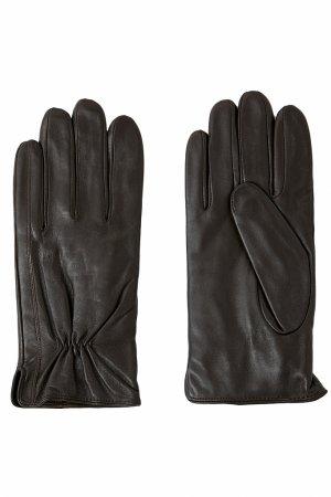 Перчатки мужские Finn-Flare. Цвет: темно-коричневый