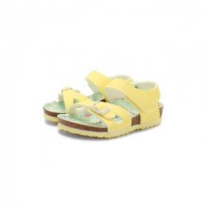 Босоножки Birkenstock. Цвет: жёлтый
