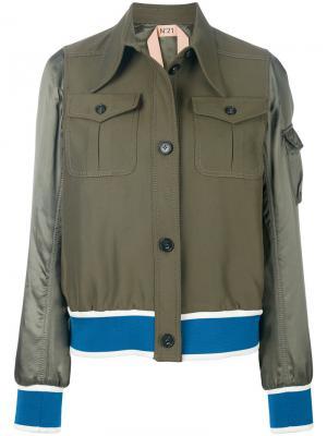 Куртка-бомбер Nº21. Цвет: зеленый
