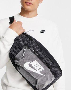 Сумка-кошелек на пояс черного и серого цвета из ткани рипстоп Tech-Черный цвет Nike