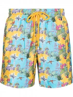 Плавки-шорты Moorea Holiday Vilebrequin. Цвет: желтый